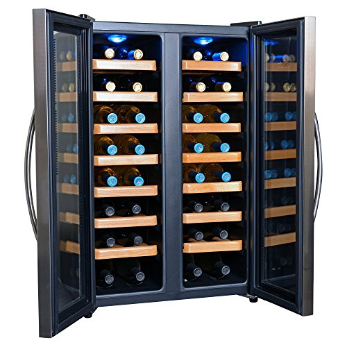 NewAir AW-320ED 32-Bottle Dual Zone Thermoelectric Wine Cooler