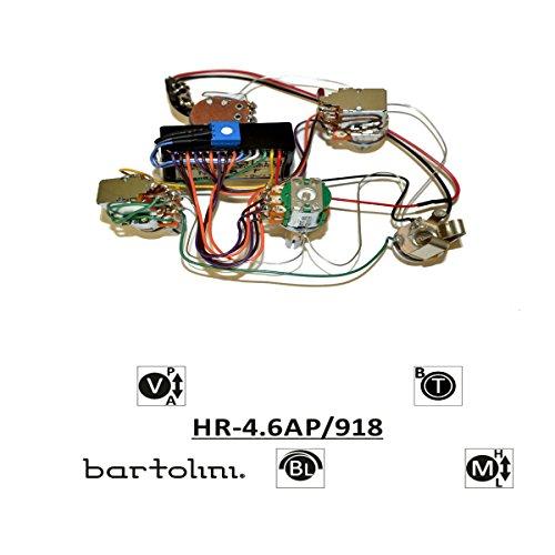 Preamp Bartolini Bass - Bartolini Bartolini 4.6AP Harness 3-Band EQ with PreAmp