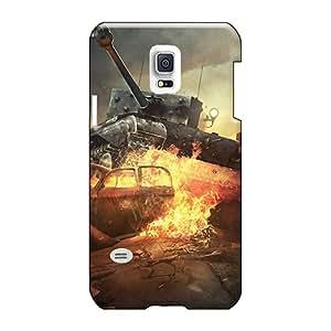 Hard Protect Phone Cases For Samsung Galaxy S5 Mini (rhb11087vDJm) Custom Beautiful World Of Tanks Online Game Pattern
