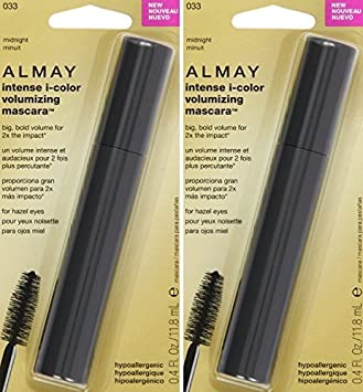 Almay Intense i-Color Volumizing Mascara - For Hazel Eyes - 033 Midnight - Net