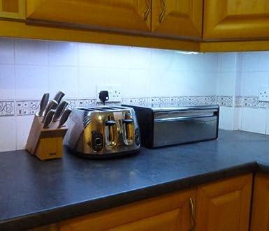 ossun Cool weiß LED Küche/Unter Schrank Beleuchtung Set (2 x 50 cm ...