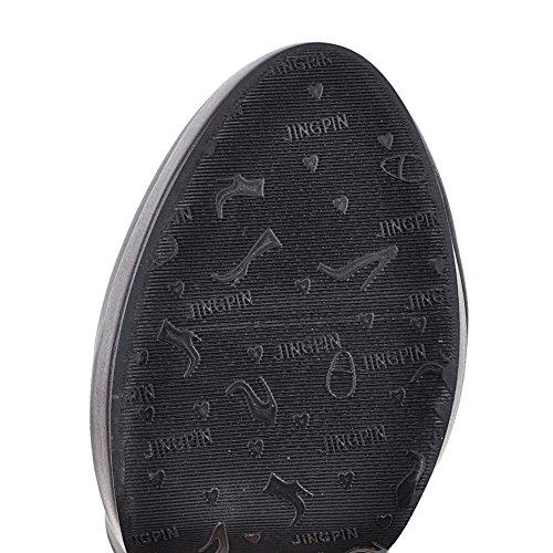 Botas Plegables Con Tirantes Para Mujer De Balamasa Botas Plegables De Uretano Con Tirantes De Penny-loafer Abl09699 Marrón