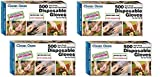 Clean ones Disposable Gloves- 2000 Gloves - 4 Box (2000 Count)