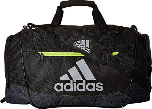 adidas Defender III Duffel Bag, Black/Black Jersey/Semi Solar Yellow, Medium