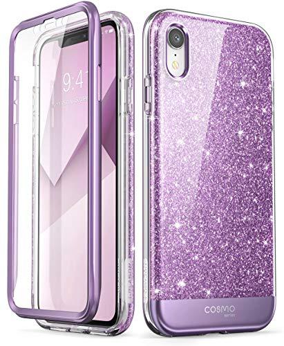 i-Blason Cosmo Full-Body Glitter Bumper Case for iPhone XR 2018 Release, Purple, 6.1