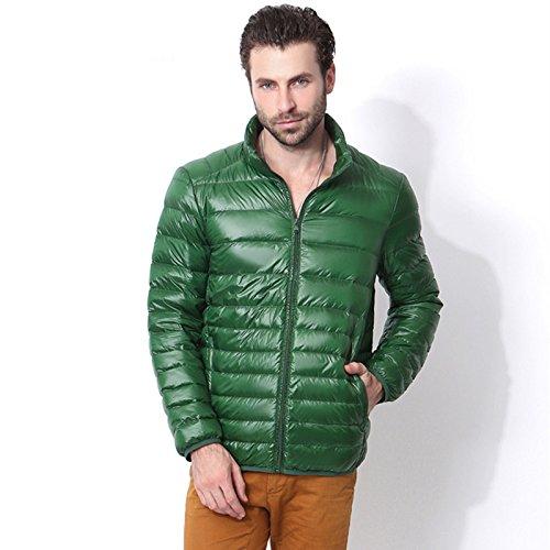 Hgfjn EIN dünner Baumwolle gepolsterte Winter männer Mode männer Kurze größe matelkragen,schwärzlich grün,4XL