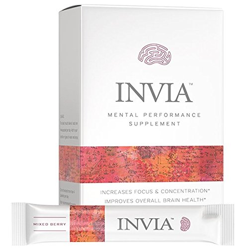 Cheap INVIA Life Mental Performance Supplement Drink, Cognizin (Citocoline), Brain Health, Nootropic, Boosts Mental Performance, Enhances Focus, Brain Boost Supplement (Mixed Berry, 15 Pack)