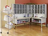 Mayline Complete Corner Mail System Dimensions: 90''W X 78''D X 75 1/4''-82 1/4''H - Pebble Gray