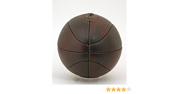 New Vintage Leather full size Basketball Retro style hand stitched lace-up ball