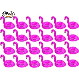 Yourrs 24 pcs Pink Flamingo Drink Pool Float, Flamingo Inflatable Drink Coasters Holder Floating Can Coke Cup Stand Station Pool Swim Floats for Water Fun Kids Bath, Pool Beach Parties