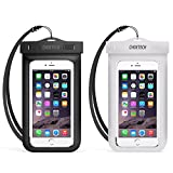 Universal Waterproof Case, CHOETECH 2Pack Clear Transparent Cellphone Waterproof, Dustproof Dry Bag with Neck Strap compatible with iPhone X/8/8 Plus/7/7 Plus/6s/6s Plus, Samsung Galaxy S9//S8/S7/S6 and All Devices Up to 6 Inches