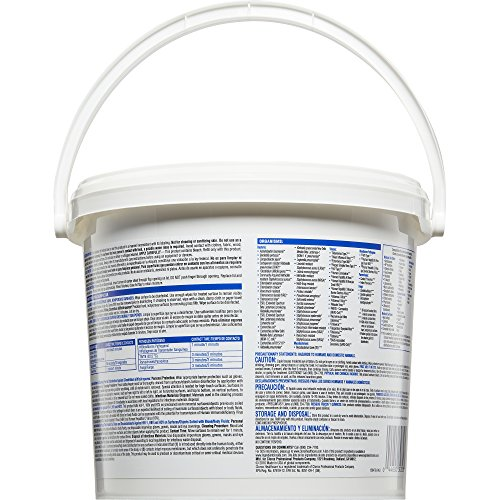 Clorox Healthcare Bleach Germicidal Wipes, 110 Count Pail, 2 Pails/Case by Clorox (Image #4)