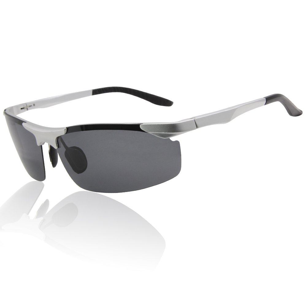 75d7ff8257 Duco Men s Driving Sunglasses Polarized Glasses Sports Eyewear Fishing Golf  Goggles 8201 (Silver Frame Gray Lens)  Amazon.co.uk  Clothing