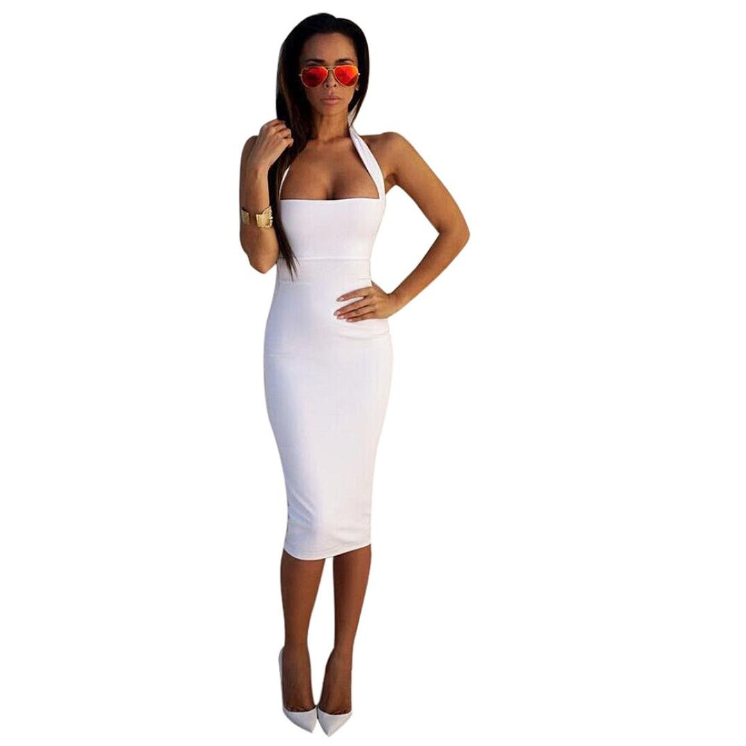 Gotd Womens Summer Sexy Bodycon Pencil Cocktail Party Dresses (L, White) by Goodtrade8