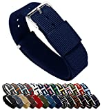 BARTON's Ballistic Nylon NATO Style watch bands are custom designed and fabricated to meet the highest standard of fashion, function and fit... and we back it up with a full satisfaction guarantee. Buy multiple bands to compliment your wardrobe and s...