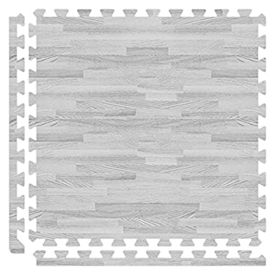 Alessco SWGY1010 Softwoods Tile Set, 10' x 10', Grey