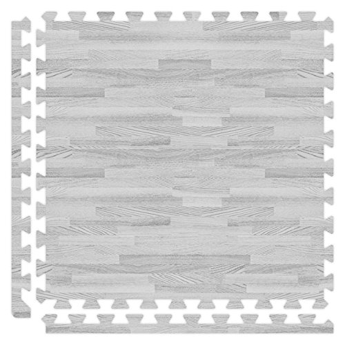 Alessco SWGY1010 Softwoods Tile Set, 10' x 10', Grey from Alessco