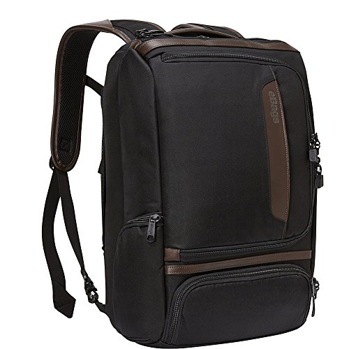 eBags Professional Slim Laptop Backpack with Leather Trim for Travel, School & Business - Fits 17