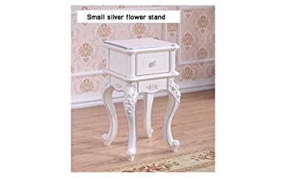 Amazon.com : European Flower Shelf Living Room White Floor ...