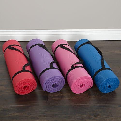 Wakeman Fitness - Esterilla de ejercicio para yoga (180 x 60 x 0,5 cm), color azul 9