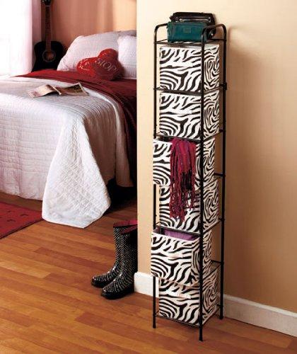 Merveilleux 6 Bin Storage Unit   Zebra With Black Frame