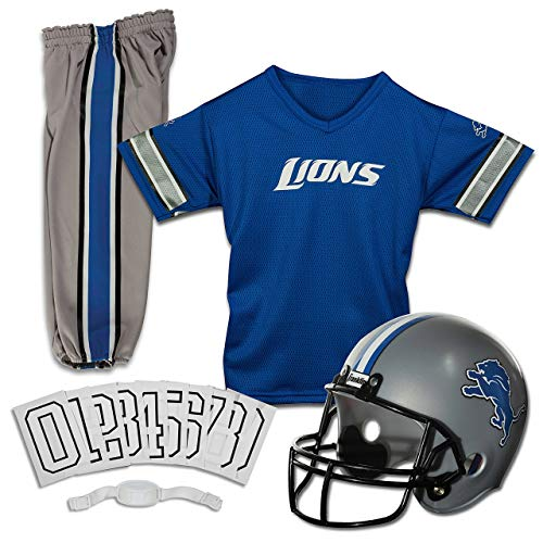 Franklin Sports Deluxe NFL-Style Youth Uniform - NFL Kids Helmet, Jersey, Pants, Chinstrap and Iron on Numbers Included - Football Costume for Boys and Girls (Renewed)