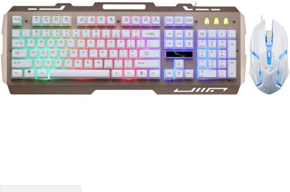 Persiguiendo teclado G21 leopardo Ronda Iluminado manija mecánica retroiluminado juego teclado USB Ratón Teclado Gaming Keyboard Set Silencio mecánica del juego teclado 104 teclas digitales teclado tá