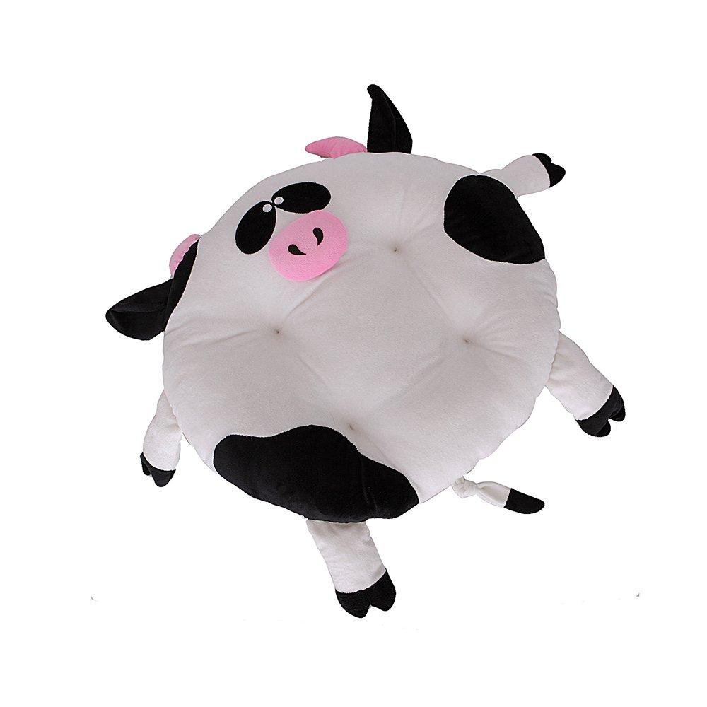 Cow color YQQ Pet Supplies Cute Animal Pet Pad Cat Mat Dog Pad Pet Cow Shape Mat Cute Cushion Sleeping Pad Deep Sleep Mat Cotton (color   Cow color)