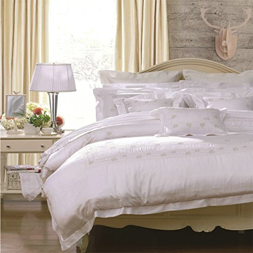 FUANNA 4- Piece TENCEL Bedding Set/Gentle Breeze (Duvet Cover, Bed Sheet, Pillowcases) (King)