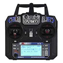 Elisona-2.4GHz 6CH AFHDS RC Transmitter Left Throttle Controller with Receiver for Airplane Helicopter UAV Multicopter Drone