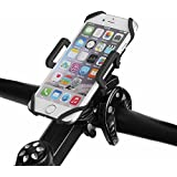 OUTERDO Universal Bike Phone Mount 360° Rotation GPS Bike Cell Phone Holder for Bicycle & Motorcycle Handlebars,Bike Phone Stand for iPhone X/8Plus/8/7/6/5S or any other Smartphones Black