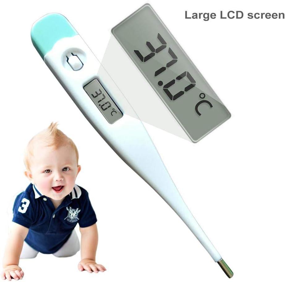 bowlder Thermometer Elektronisches Digitales Mundh/öhlen Rektum Achsel Thermometer mit LCD Anzeige f/ür Kleinkinder