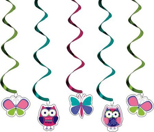 Creative Converting 5-Count Dizzy Danglers Hanging Party Decorations,