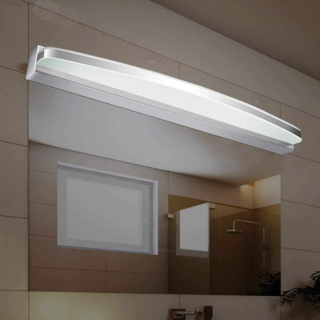 FXING & Bad Beleuchtung im Europäischen Stil Spiegel vorderen Leuchte wasserdicht Anti-LED-Nebel Badezimmerspiegel Beleuchtung vorn, Moderne Lampe Wandleuchte Licht (Farbe  Weißled-60cm 9 w)