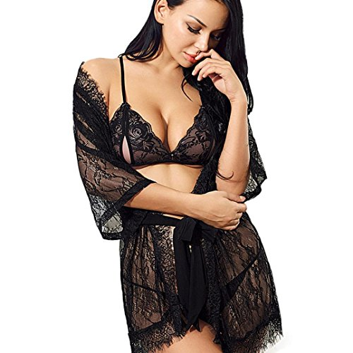 DongDong Hot Sale! Lady Sexy Lingerie Seductive Lace Lacy Pierced (Nun Costumes For Guys)