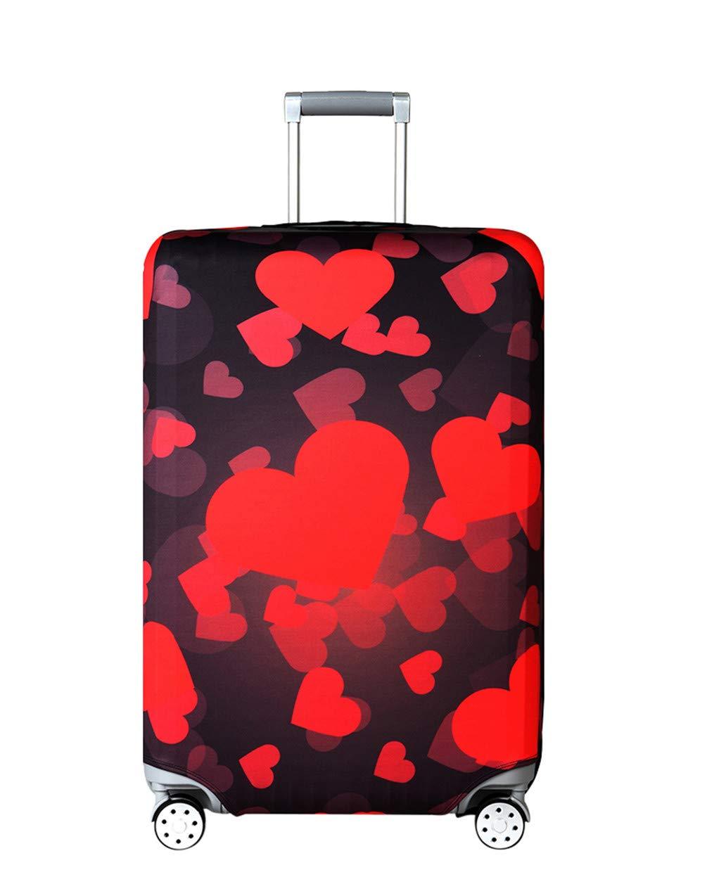 Elastique Housse de Valise Luggage Cover pour 18-32 Pouce Valise 18-21 Pouces Protection De Valise Housse Bagage Voyager Protecteur Couverture,Black,S