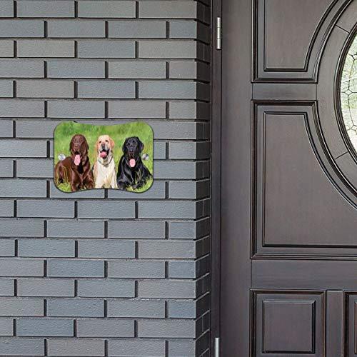 - Door Sign Funny Labrador Retriever Funny Hanging Wall Art Primitive for Home