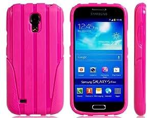 Funda de silicona trefilado para Samsung Galaxy S4 Mini i9190 (Rose Red)