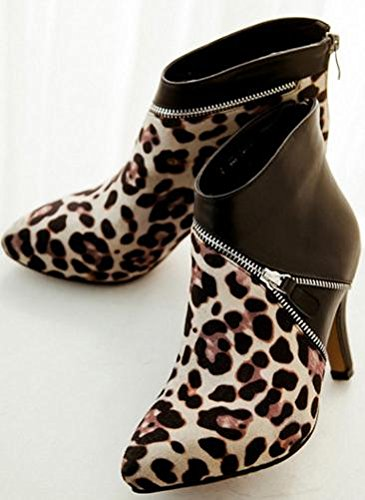 Leopard Leather Spike Women's Boot Laruise RxPUYw