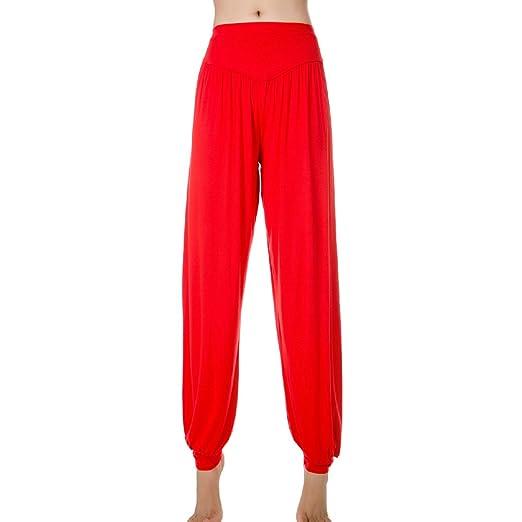 OCHENTA Mujer Pantalones de Deporte Yoga Suave 95% Modal Danza Type bombacha Pants