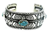 Ernie Lister, Hand Wrought Coin Silver Cuff, Red Mountain Turquoise