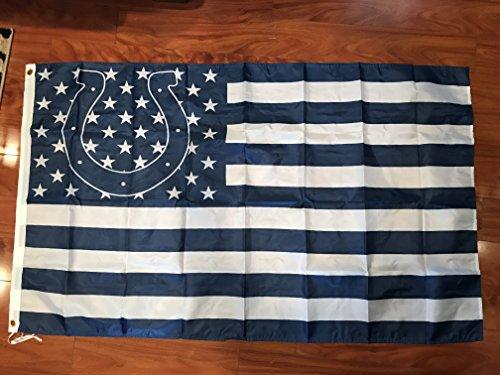(Indianapolis Colts 3 Feet X 5 Feet Stars & Stripes Football Flag Banner Bar Decor Man Cave )