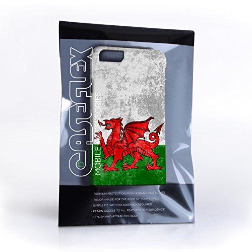 Caseflex iPhone 6 / 6S Hülle Retro Wales Flagge Hart Schutzhülle