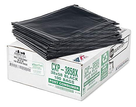 Amazon.com: plasticplace 55 – 60 litros negro basura bolsas ...