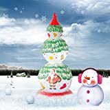 GuYue Creative 3D LED Night Light Christmas Tree Shape Decor Light up Santa Claus on Snow Yard Garden Decoration Table Lamp For Kids, Gifts, Home, Party, Decoration UL Certificated