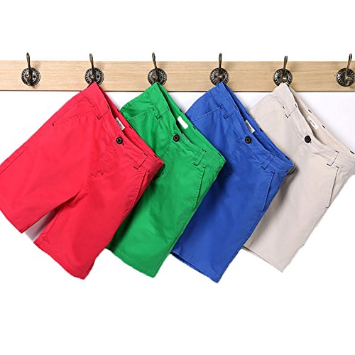 Blue Summer Shorts (KID1234 Boys Beach Casual Short Pants Boys' Cargo Shorts(Blue,10))