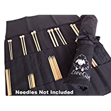 EweGirl by della Q Straight and DPN Needle Case (20.5 in. H x 16 in. W); 100 Black EG-2011-100