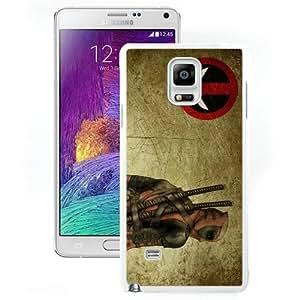 Deadpool White Abstract Design Custom Samsung Galaxy Note 4 Case