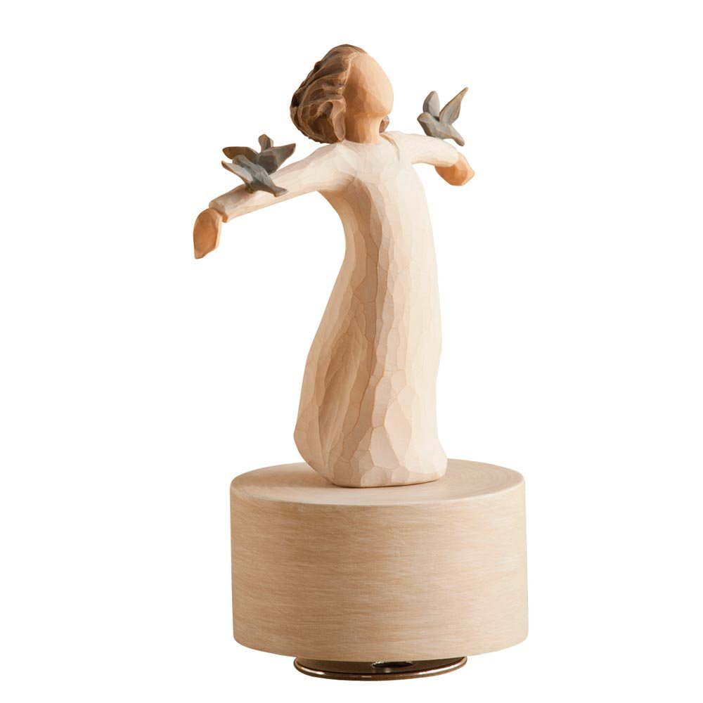 Willow Tree hand-painted sculpted Musical, Happiness DEMDACO - Home 26456