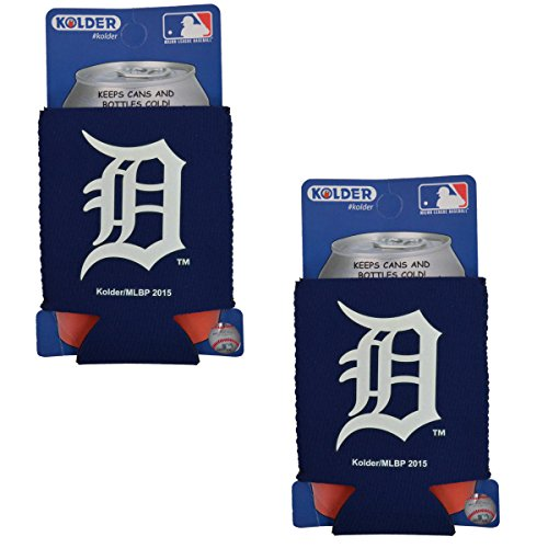 (Official Major League Baseball Fan Shop Authentic 2-Pack MLB Insulated 12 Oz Can Cooler (Detroit Tigers))